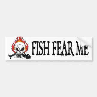 Fish Fear Me Bumper Sticker