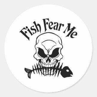 Fish Fear Me Classic Round Sticker