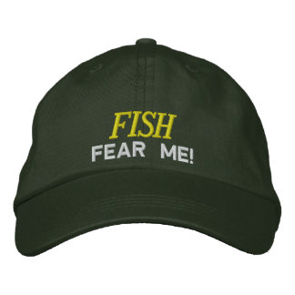 Fish Fear Me Embroidered Hat