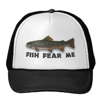 Fish Fear Me Funny Fishing Sports Cap
