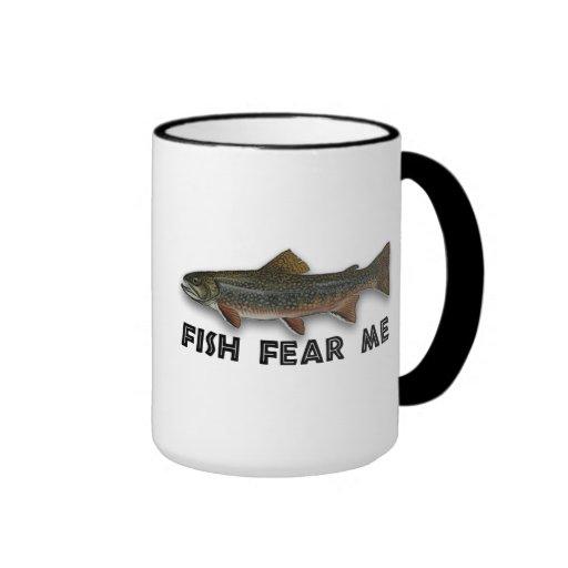 Fish Fear Me Funny Fishing Sports Mugs