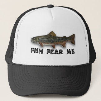 Fish Fear Me Funny Fishing Sports Trucker Hat