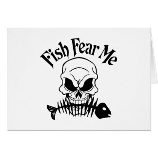 Fish Fear Me Greeting Cards