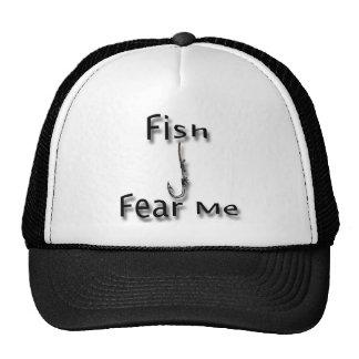 Fish Fear Me Mesh Hats