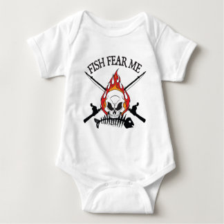 Fish Fear Me Pirate Baby Bodysuit