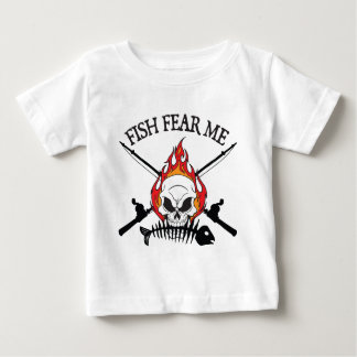 Fish Fear Me Pirate Baby T-Shirt
