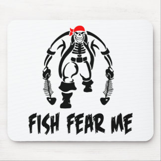 Fish Fear Me Pirate Mouse Pad