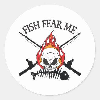 Fish Fear Me Pirate Round Sticker