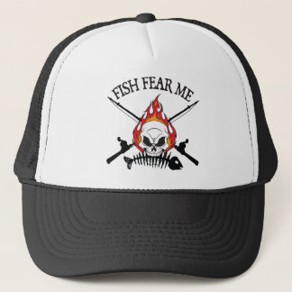 Fish Fear Me Pirate Trucker Hat