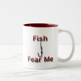 Fish Fear Me red Mug