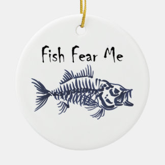 Fish Fear Me Round Ceramic Decoration
