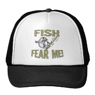 Fish Fear Me T-shirts and Gifts Cap