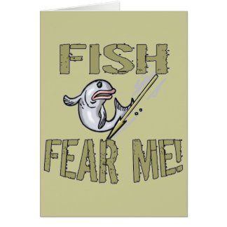 Fish Fear Me T-shirts and Gifts Card