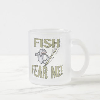 Fish Fear Me T-shirts and Gifts Frosted Glass Coffee Mug