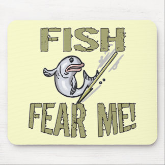 Fish Fear Me T-shirts and Gifts Mouse Mat