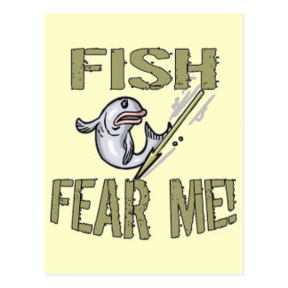 Fish Fear Me T-shirts and Gifts Postcard