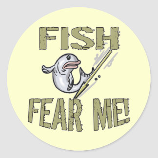 Fish Fear Me T-shirts and Gifts Classic Round Sticker