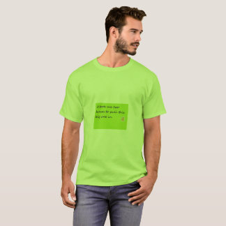 fish fight lime green basic t-shirt
