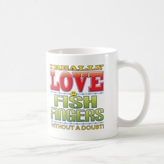 Fish Fingers Love Face Coffee Mug