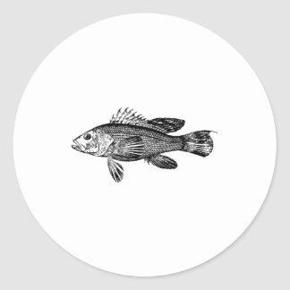 Fish Fisherman Sea Collection Classic Round Sticker