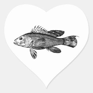 Fish Fisherman Sea Collection Heart Sticker
