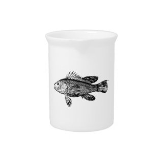 Fish Fisherman Sea Collection Pitcher