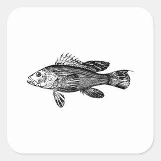Fish Fisherman Sea Collection Square Sticker