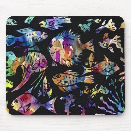 fish fishy fish mouse pads