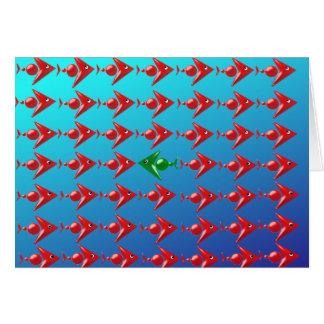 Fish flock card
