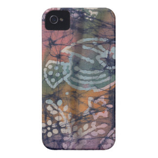 Fish & Floral Tie-Dye Batik iPhone 4 Case-Mate Case