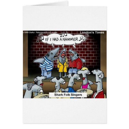 Fish Folk Singers Funny Gifts Tees & Collectibles Greeting Card