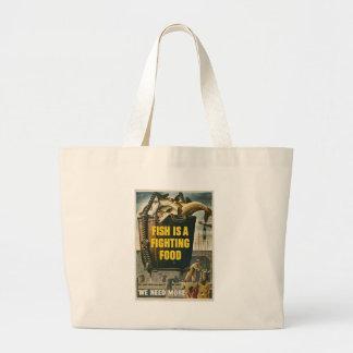 Fish Food World War II Jumbo Tote Bag
