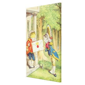 Fish-Footman Delivering an Invitation to a Canvas Print