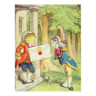Fish-Footman Delivering an Invitation to a Postcard