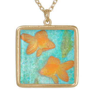 Fish For Free Gold Plated Necklace