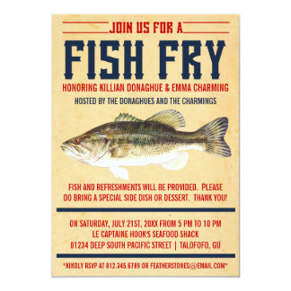 Fish Fry Party Invitations
