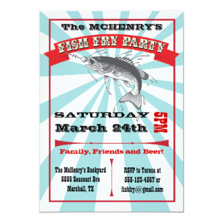 Fish Fry Party Poster Invitations