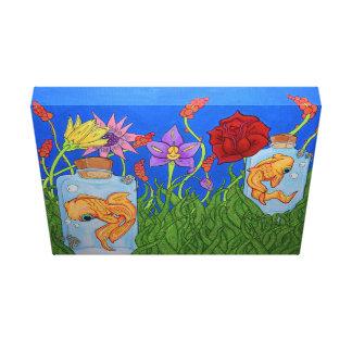 Fish Garden Stretched Canvas Canvas Prints