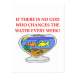 fish god postcard