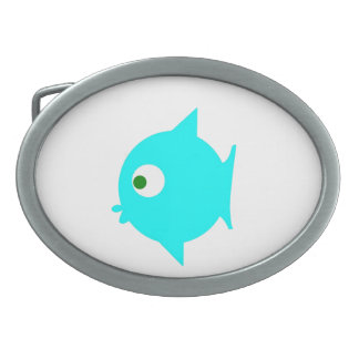 Fish GP Oval Belt Buckle
