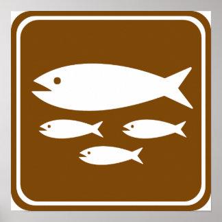 Fish Hatchery Highway Sign Poster