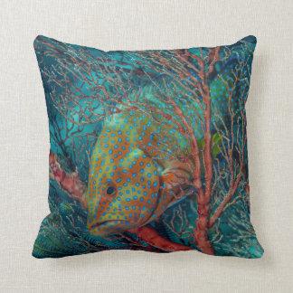 Fish Hiding in Sea Fan Cushion