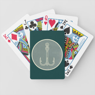 Fish Hook Bicycle Playing Cards