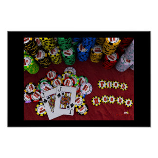 Fish Hooks - Big Slick Poker Poster