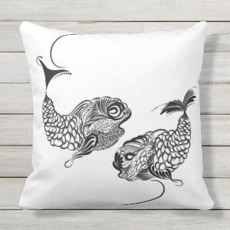Fish, Horoscope, Zodiac, Pisces Outdoor Cushion