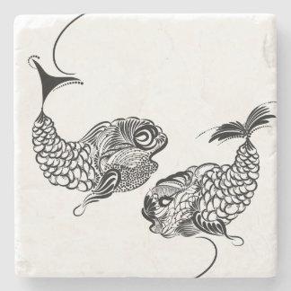 Fish, Horoscope, Zodiac, Pisces Stone Coaster