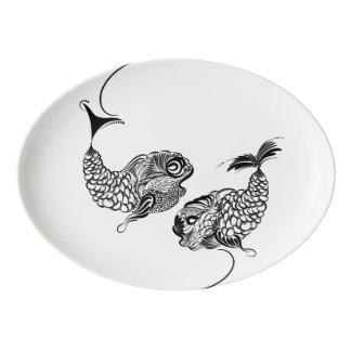 Fish, Horoscope, Zodiac Porcelain Serving Platter