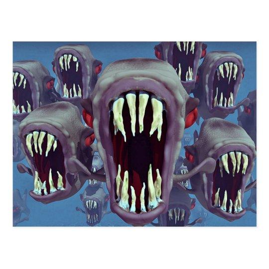 Fish Horror Fantasy Gothic Postcard