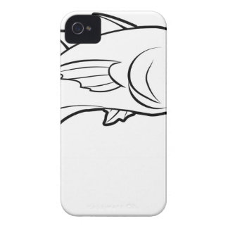 Fish illustration iPhone 4 case