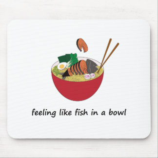 Fish in a bowl Funny Mouse Pad